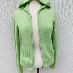 JCrew Lime Green 100% Cashmere M Sweater